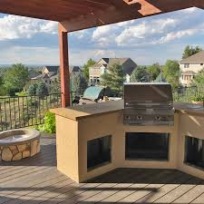 longmont co gas grill with outdoor kitchen and fire pit