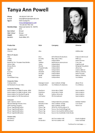 6 Actor Resume Examples Mla Cover Page