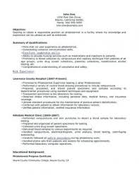 Fantastic Sample Resume Phlebotomy Student About Entry Level Medical ...
