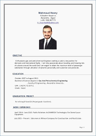 Cabin Crew Objective Resume Sample Resume Format For Cabin Crew