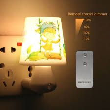 Night Light For Children S Bedroom Us 5 85 30 Off Baby Nightlight 0 5w Ac220v With Remote Control Dimmer Led Night Light Lamp For Children Bedroom White Warm White Energy Saving In