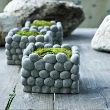 Maceta Hecha De Cemento Con Efecto Imitación Piedra  Fotos Como Hacer Un Macetero Grande De Cemento