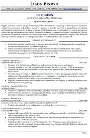 Facility Manager Resume Samples 18 New Facility Manager Resume Examples