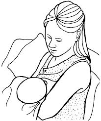 Baby Kinder Kleurplaten Borstvoeding