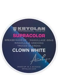 supracolor clown white 30 g kryolan professional make up