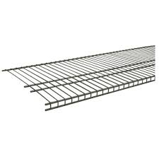 closetmaid superslide 72 in w x 16 in d nickel ventilated wire shelf