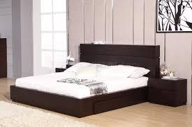 Loft Bedroom Bedroom Set In Wenge By Beverly Hills W Storage