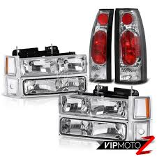 1995 1996 1997 1998 1999 Chevy Tahoe Crystal Clear Headlight Tail ...
