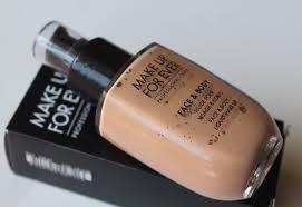 make up for ever face body liquid make up 32 alabaster beige review