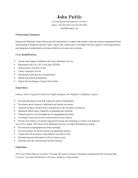 Free Healthcare Business Analyst Resume Template Sample Ms Word