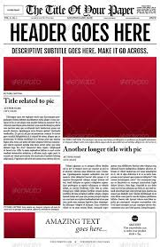 Creative Newspaper Template Old Style Newspaper Template By Tedfull Graphicriver