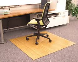 full size of portable square beige bamboo wood office chair mat as brown fiber carpet protector