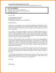 Samples Of Social Work Cover Letters For Youth And Family Dolap
