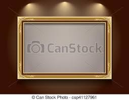 gold frame border vector.  Gold Gold Frame  Csp41127961 Intended Gold Frame Border Vector G