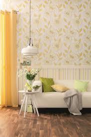 Tapete Schöner Wohnen Grün Weiß Blumen 959044