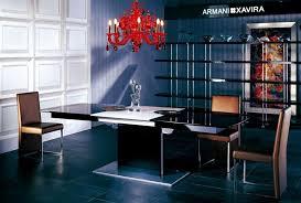 White Extension Dining Table Armani Xavira Black High Gloss Dining Table With White Extension