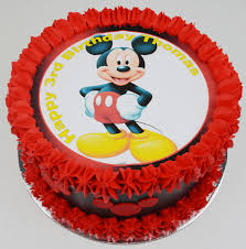 Mickey Mouse Birthday Cake Edible Image Cake Kids Cakes Childrens