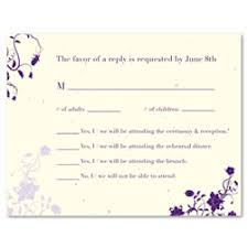 Green Wedding Response Cards Rsvp Cards Insert