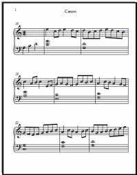 pachelbel canon violin sheet music canon in d sheet music a fancy version for early note readers