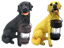 chocolate lab statue garden statues w solar light chocolate lab welcome statue