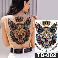 1 лист большой полный назад грудь татуировки стикеры будды четки дракон тела