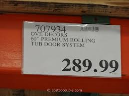 ove decors 60 inch premium rolling tub door costco 1