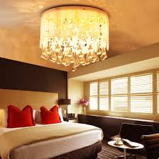 Elegant Design Of The Bedroom Ceiling Lights Ideas With Brown Wooden Floor  And White Wall Ideas