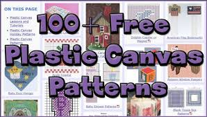 Free Plastic Canvas Patterns To Print Out