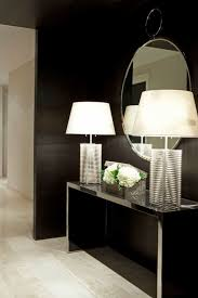 hallway table and mirror. Mirrored Hallway Table With Contemporary Lamps Furniture Selecting Narrow Console For Drawer Unit Seat Entryway And Mirror Set Glass Corner Hi Style Cream