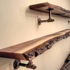 Raw Wood Floating Shelves Classy Raw Edge Wood Shelf Raw Wood Floating Shelves Reclaimed Raw Edge