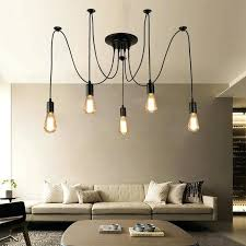 swag light vintage loft spider pendant lamps adjule swag lights holder set chandelier light ceiling swag