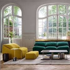 large comfortable furniture decided in bold colors and inviting textures this time inspired by iconic model introduced over 35 years ago thus carrying the