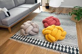 floor cushions. Terracotta Red Knot Floor Cushion Cushions