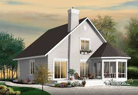 Stunning A Frame 4 bedroom cottage house plan Drummond House