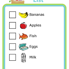 grocery list example grocery list template for kids world of example pertaining to
