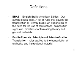 Ebae Braille Chart Texas School For The Blind Visually Impaired Ppt Download