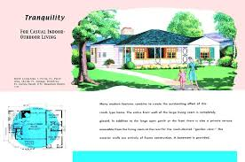 1950s ranch house floor plans floor plan and rendering of ranch style house called tranquility interior 1950s