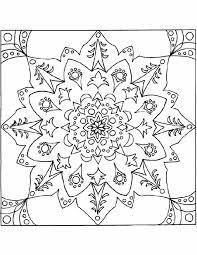 Kleurennu Bloemen Mandala Kleurplaten