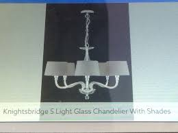 next knightsbridge 5 light glass chandelier
