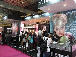 makeup studio stall at professional beauty expo editorial photo image of fashion studio