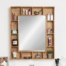 wall mirror with storage. Gretel Rustic Wood Cubby Framed Wall Storage Accent Mirror Inside With