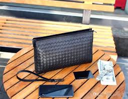 new fashion designer men clutch bag italy top leather clutch bag 2821 zipper woven black square top leather large wallet lost wallet wallets from