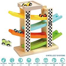 TOP BRIGHT Toddler Toys For 1 2 Year Old Boy And Girl Gifts Wooden Race Track Best for Boy: Amazon.com
