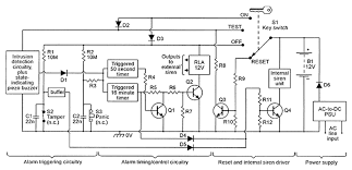security electronics systems and circuits part 7 nuts volts figure 9 shows the basic block diagram of the universal burglar alarm unit which can be fitted one exit entry zone plus any desired number of