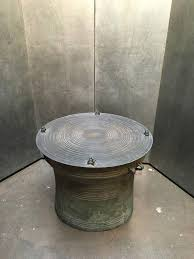 collection in drum side table with burmese shan bronze rain drum side table for at
