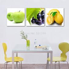 Apple Wall Decor Kitchen No Frame 3 Piece Apple Grape Lemon Kitchen Decorchina Mainland