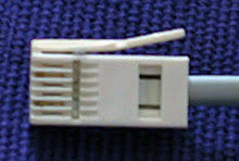 british telephone socket british telephone plug only two pins present 2 and 5 from a modem cable