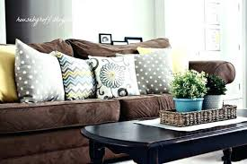 Couch pillow ideas Brown Couch Medium Size Of Brown Leather Sofa With Throw Pillows Couch Pillow Ideas Dark Faux For Accent Thenomads Home Design Ideas Accent Pillows For Dark Brown Leather Couch Faux Throw Bedrooms