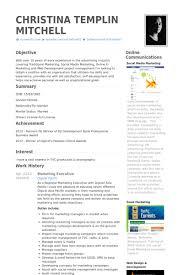 Marketing Executive Resume Samples Visualcv Resume Samples Database