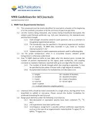 Nmr Guidelines For Acs Journals Fliphtml5